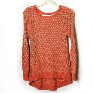 Moth | Anthropologie Orange Dot Dot Sweater